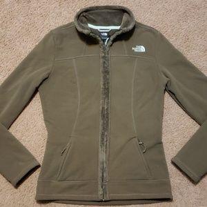 The North Face Green Zippered Fleece Sweatshirt XS